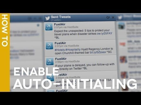 #HootTip - Enable Auto-Initialing