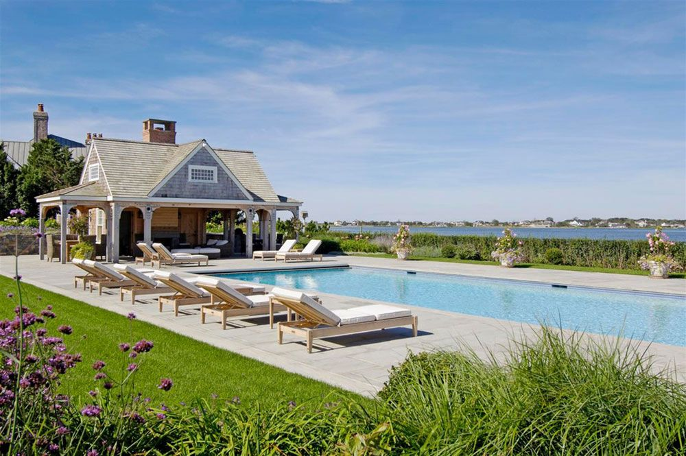 How Much Value Does A Pool Add To A Home Pool Cabana Hampton Pool Pool Houses