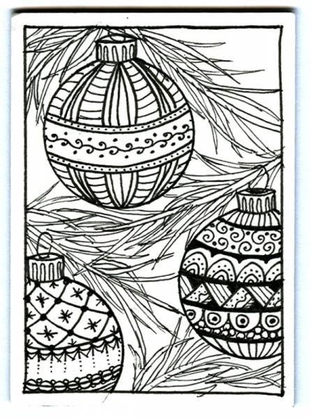 Christmas Zentangle Colouring Pages Pics