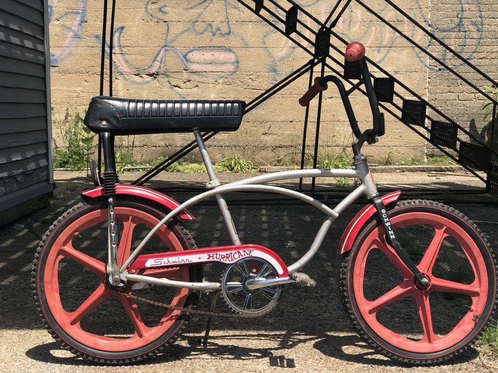 "1938c4b338b 1978 Schwinn Hurricane 20"" Muscle Old School BMX With Red Mag Wheels  #Schwinn"
