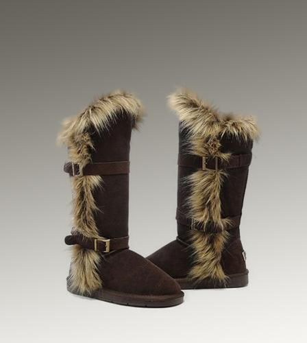ugg fox fur tall 1984 chocolate boots for sale in ugg outlet rh in pinterest com