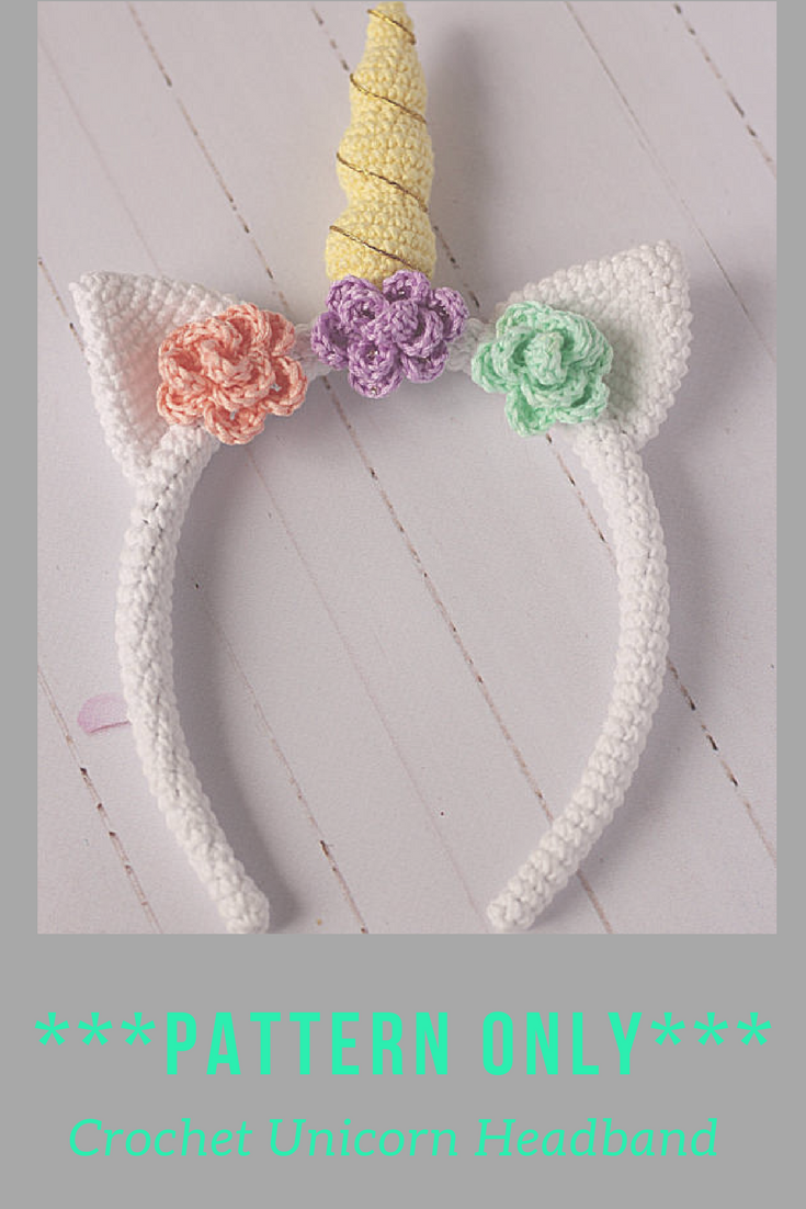 PATTERN ONLY****Crochet unicorn pattern Crochet Unicorn headband ...