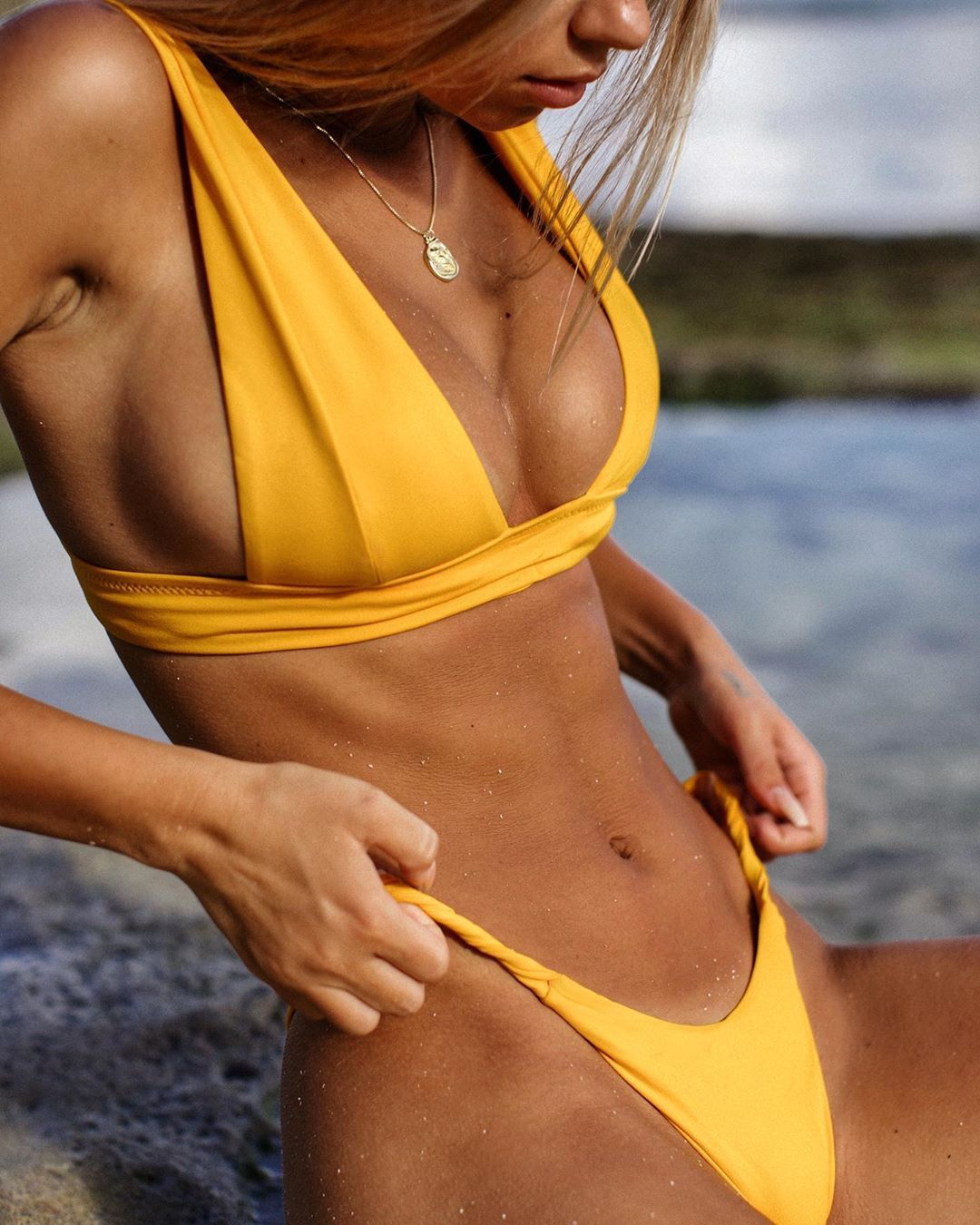 Details 📸 of our SADE TOP 👉 Use code NEED20 for 20€ off #details  #detailed #closeupphotography #closeup #yellowbikini #yello… | Bikinis,  Swimwear, Hypebeast women