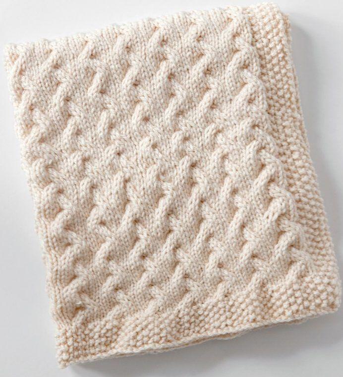 Easy Baby Blanket Knitting Patterns | Cobija, Manta y Manta bebé