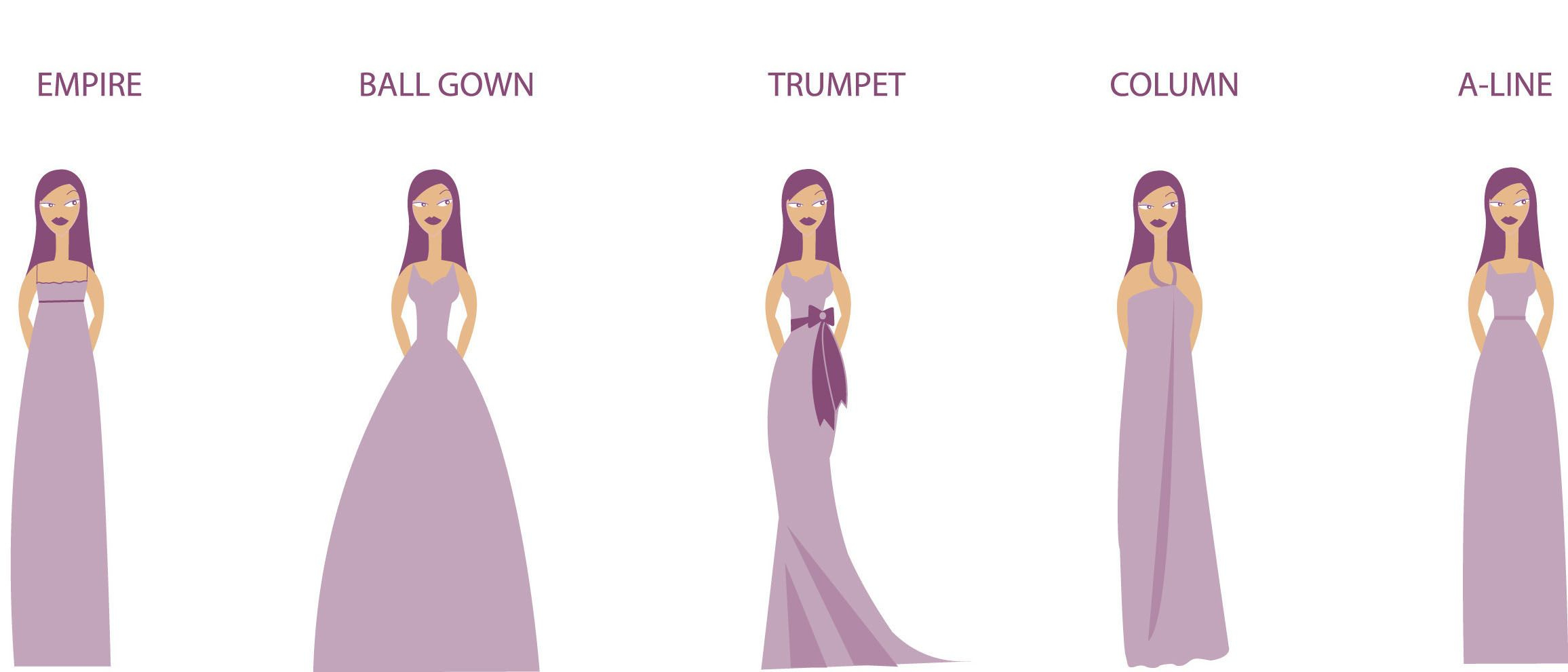 Wedding Dress Shapes For Your Body Type Chart 1
