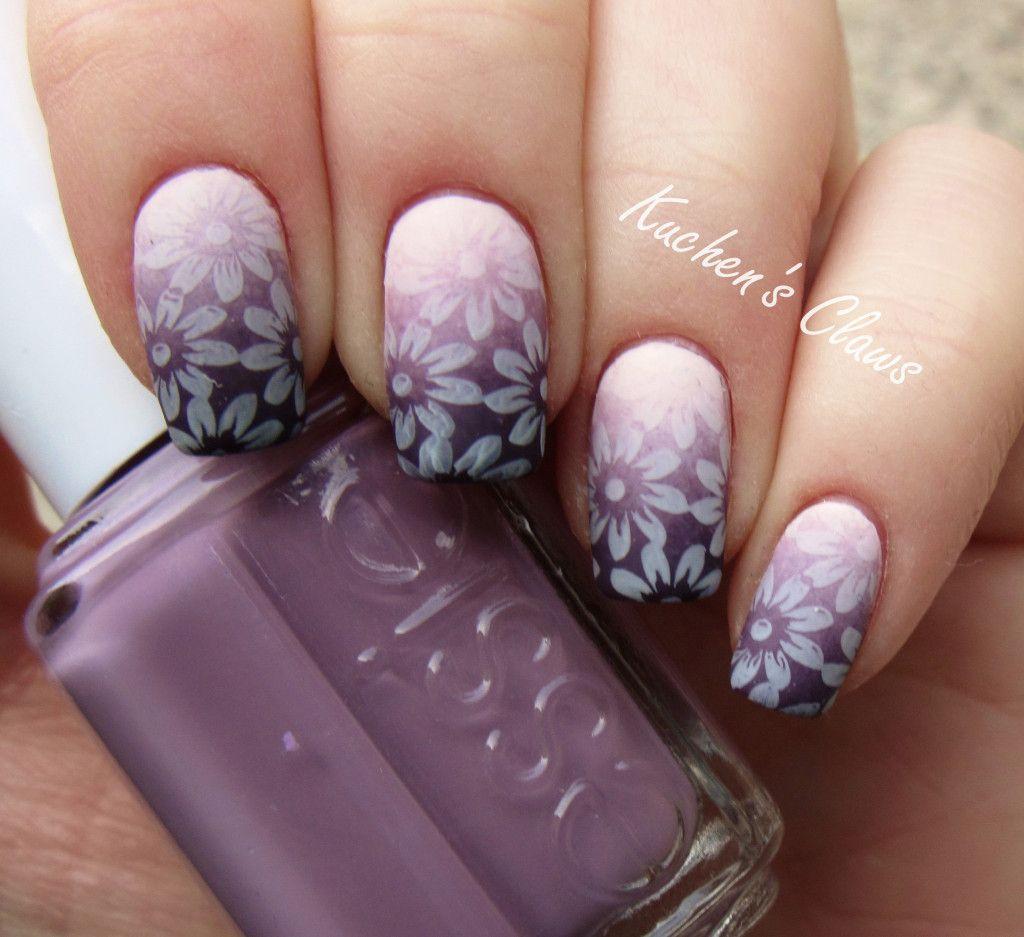 BornPrettyStore daisy stamp manicure matte | Nail Art ✨ Stamping ...