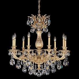 Schonbek Milano 30 Wide Optic Clear Crystal Chandelier Crystal