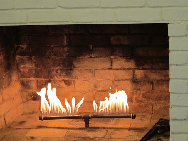 Wood Burning Fireplace With Gas Starter