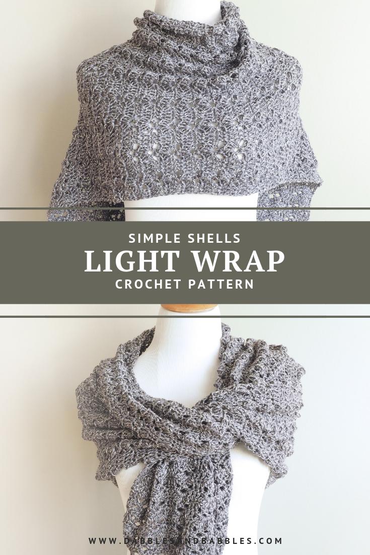 Simple Shells Light Wrap Crochet Pattern Crocheting Crochet Wrap