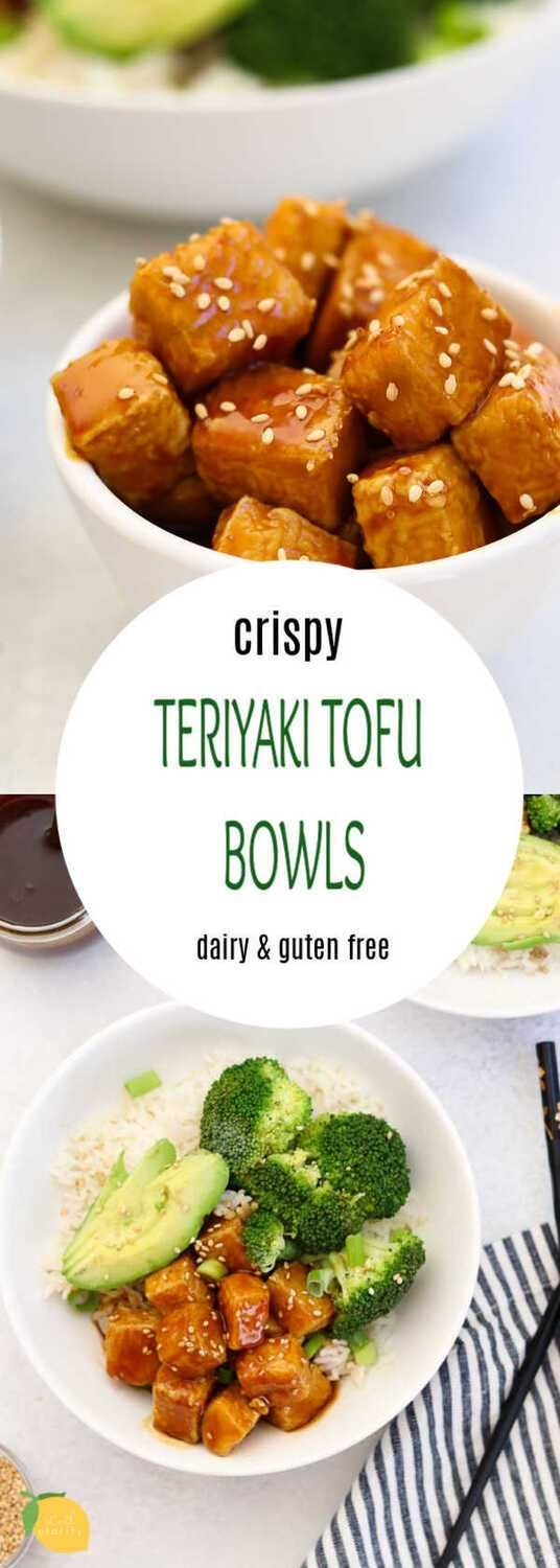 Crispy Teriyaki Tofu Seriously crispy and PACKED with flavor, this teriyaki tofu recipe is bound to convert ever tofu hater into a tofu lover. It's an easy dinner that is vegan and gluten free.