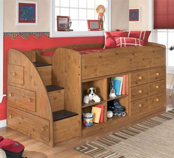 Another Way Of Doing Stair Storage Ashley B233 68 Stages Loft Bed Kids Bedroom Space Kid