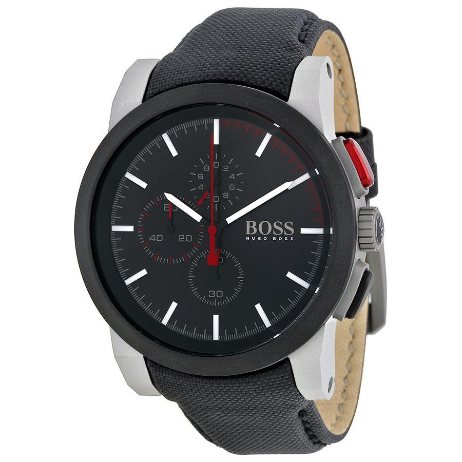 status hugo boss watches rubber strap hugo boss watches rubber hugo boss chronograph black dial black nylon strap men s watch