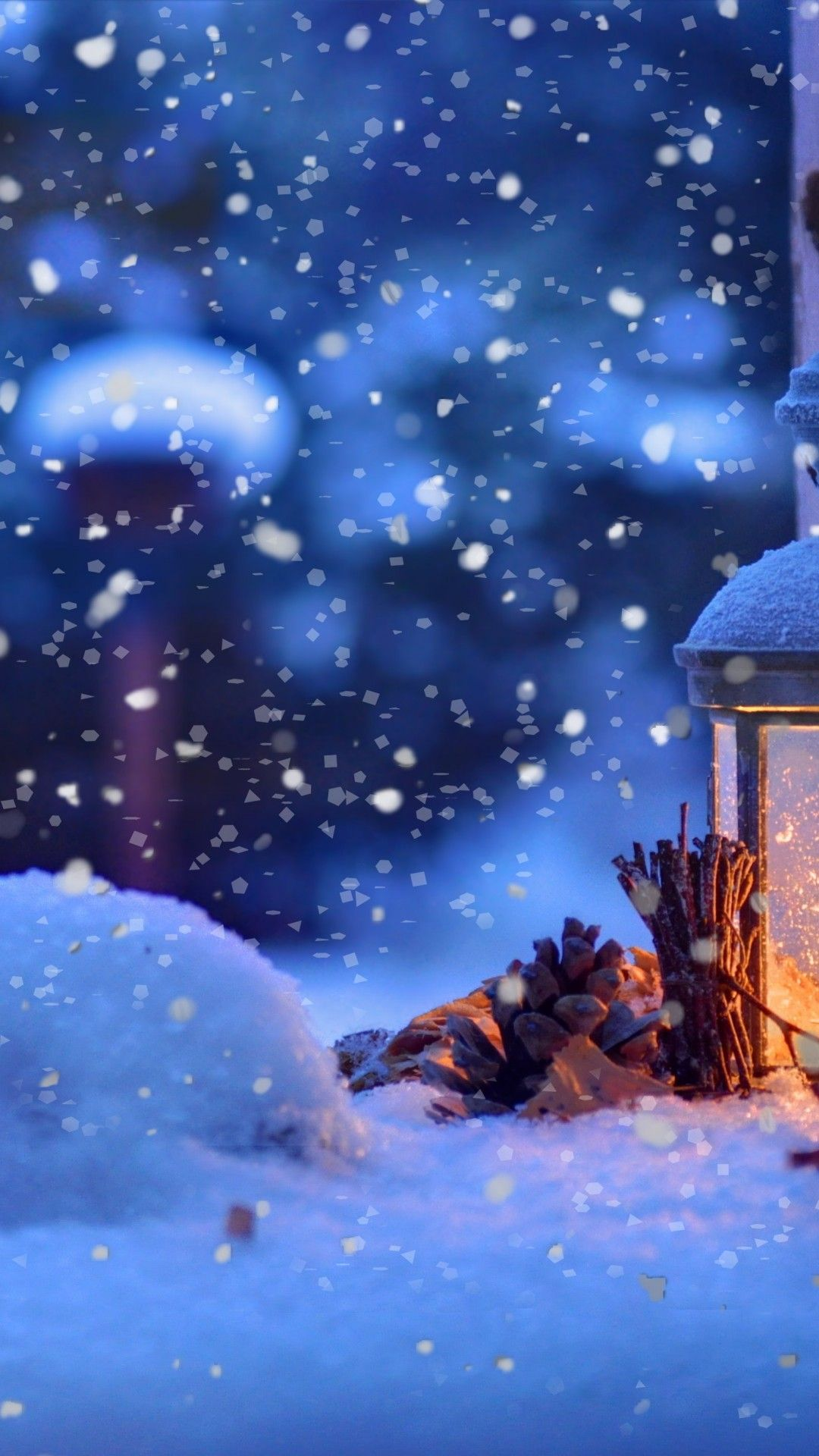 Christmas Candle Snow Macro Bokeh Android Wallpapers Christmas Lanterns Christmas Wallpaper Winter Wallpaper