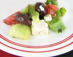 Photo of Greek Salad with Kalamata Olives and Goat Cheese