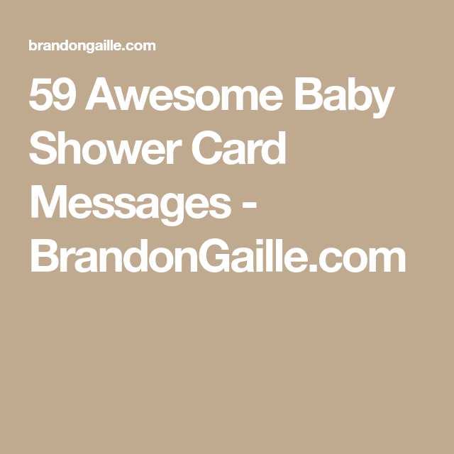 Awesome Baby Shower Card Messages  Baby Shower Card Message