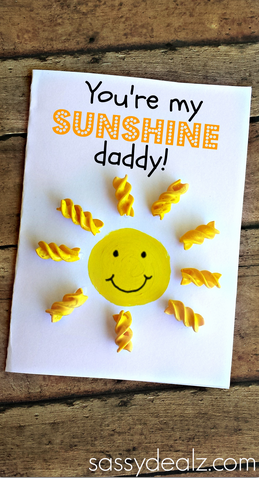 You Are My Sunshine Noodle Card For Kids To Make Kids Crafts