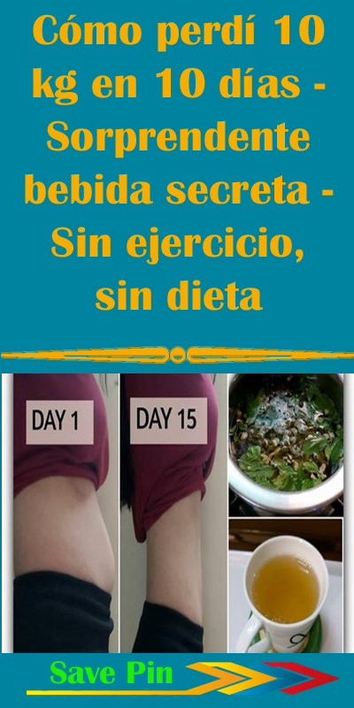 Como bajar de peso en 10 dias sin dieta