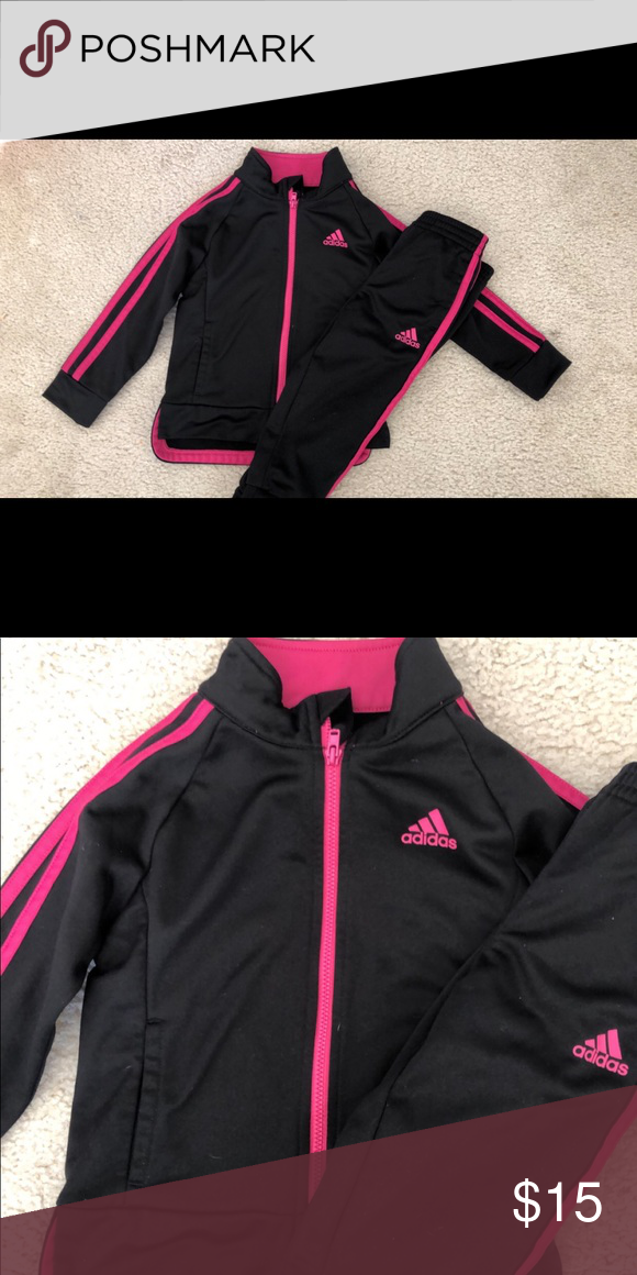 8dd2f6f852 2T Adidas Jogger Set Adorable, sporty 2T black and pink Adidas ...