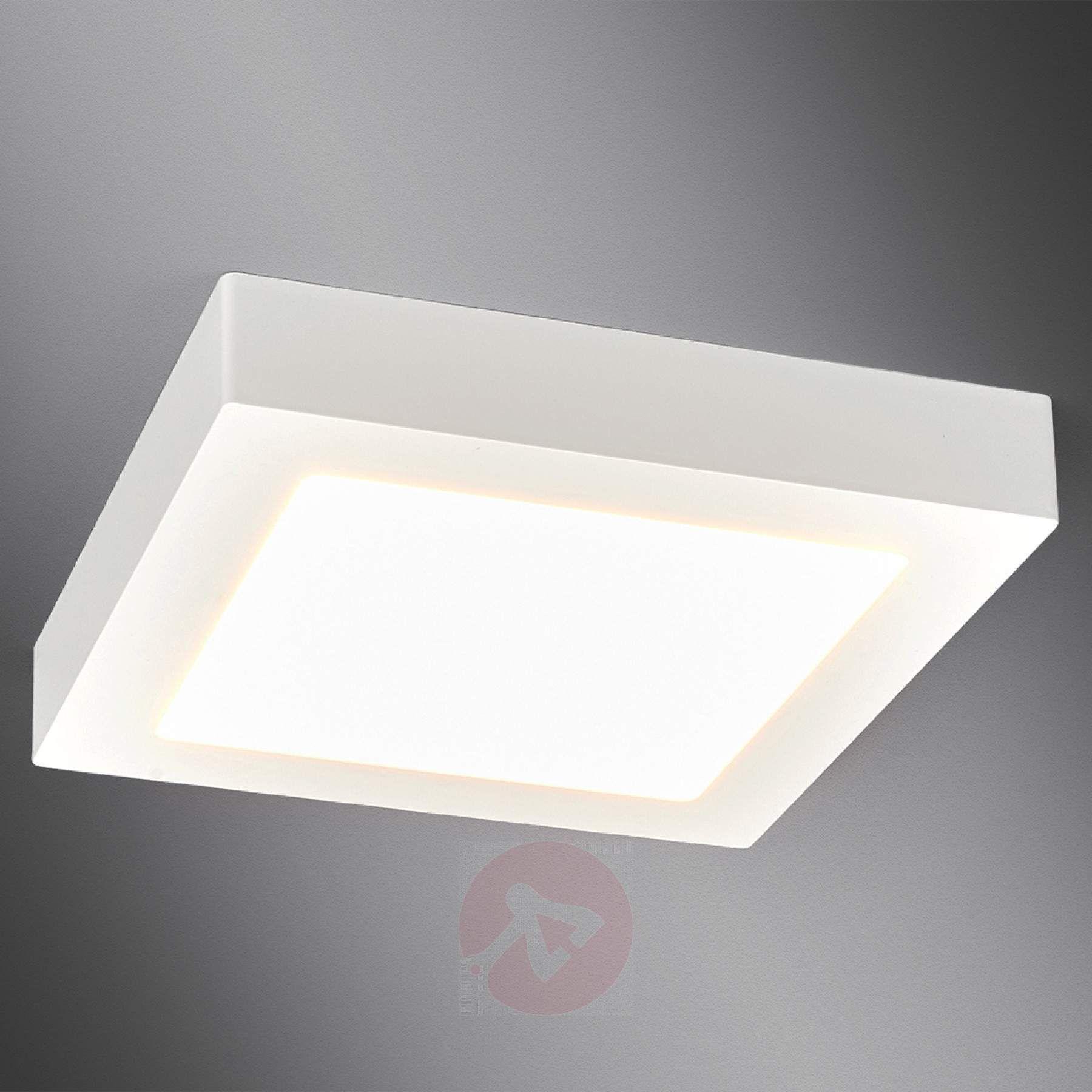 White Square Led Bathroom Ceiling Light Rayan 9978024 011 Badezimmer Led Badezimmer Deckenleuchte Led Deckenleuchte Bad