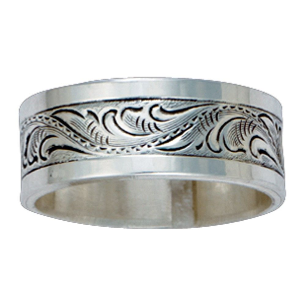 size 10 montana s sterling silver engraved band
