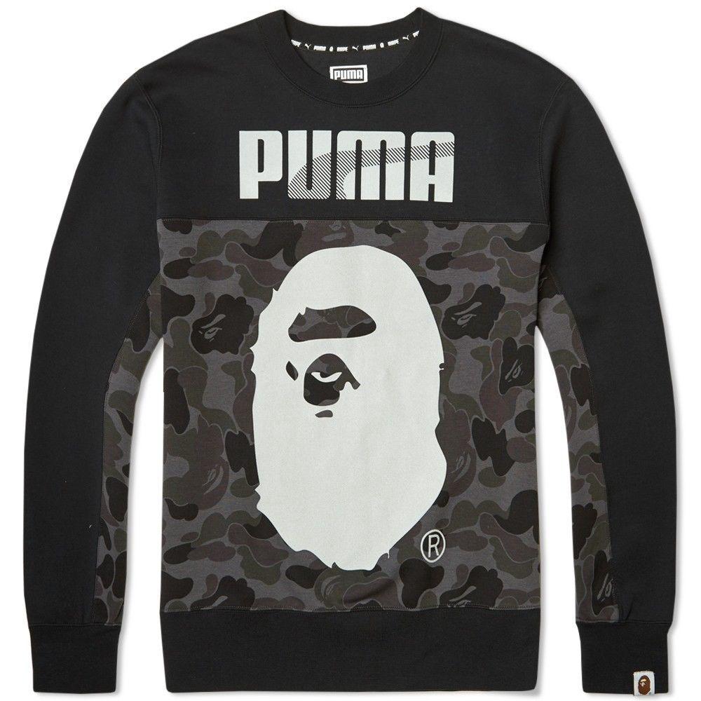 Puma X Bape A Bathing Ape Crew Sweatshirt Black Camo New M 569620 01 Sample Ebay Black Camo Black Sweatshirts Mens Sweatshirts [ 1000 x 1000 Pixel ]