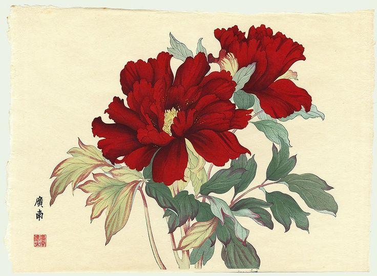 Peony by Tanigami Konan (1879 - 1928)