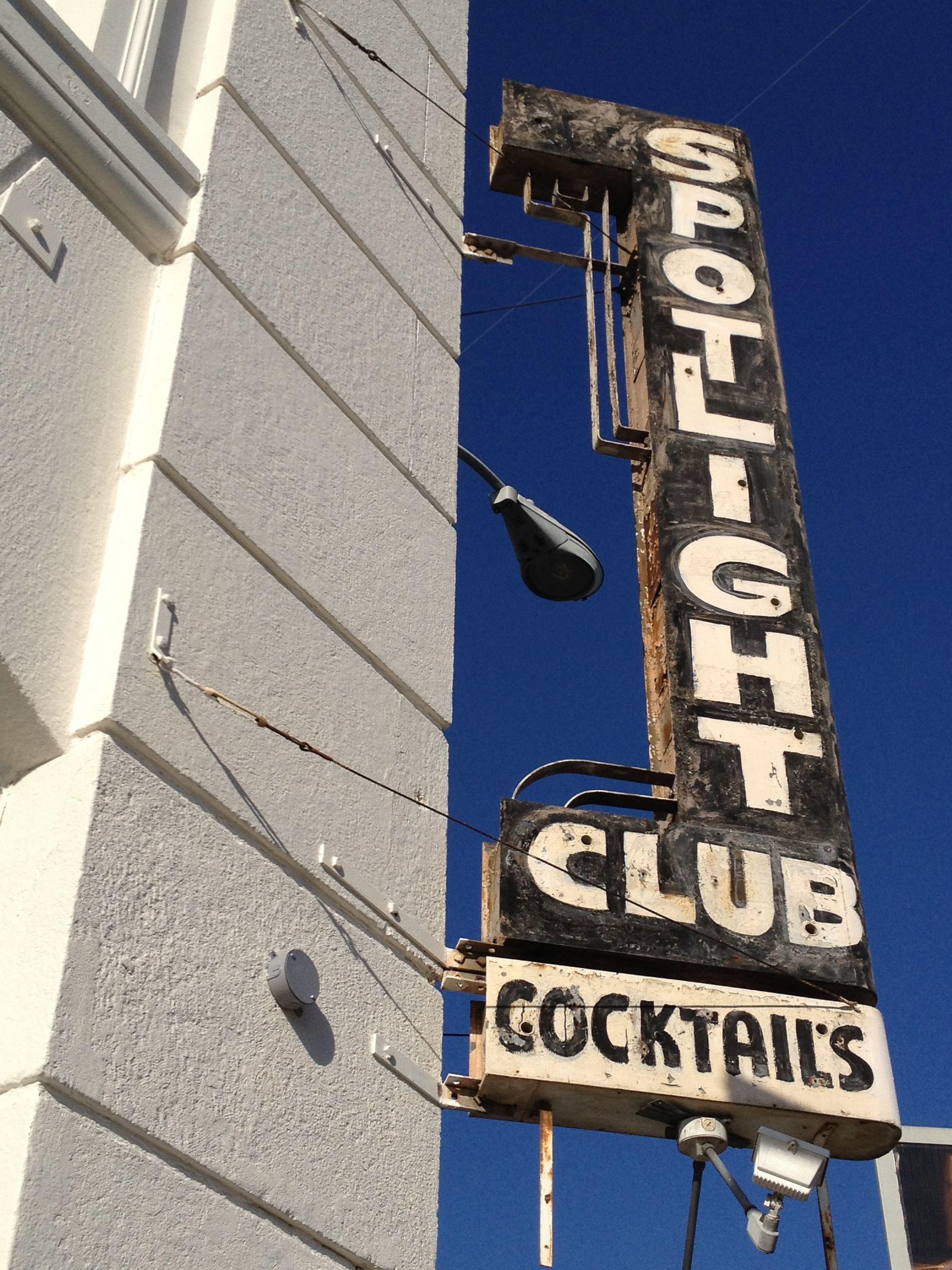 Spotlight Club ~ Old neon sign in LA