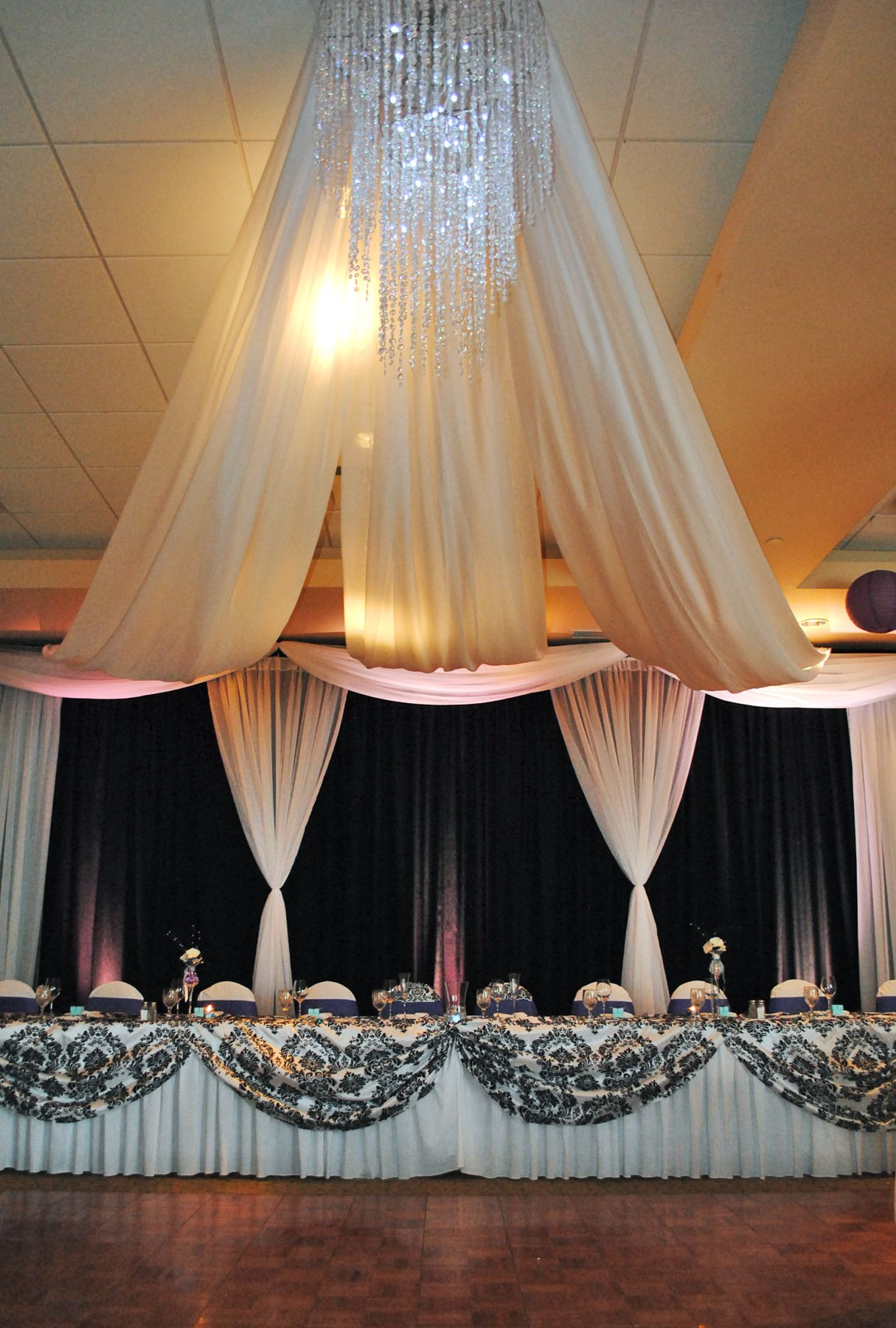 with pin lights and events ideas how drapes chandelier ceiling hang for gold great to draping
