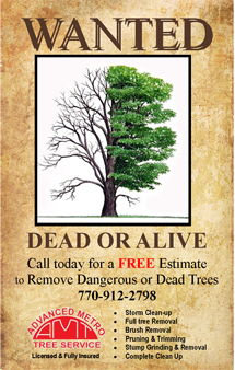 Wanted poster for tree service company marketing for Wanted dead or alive poster template free