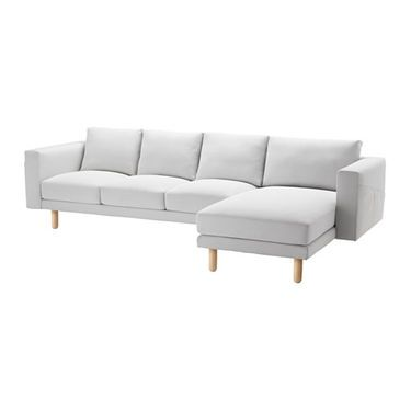 Reclining Sofa IKEA NORSBORG three seat sofa and chaise longue