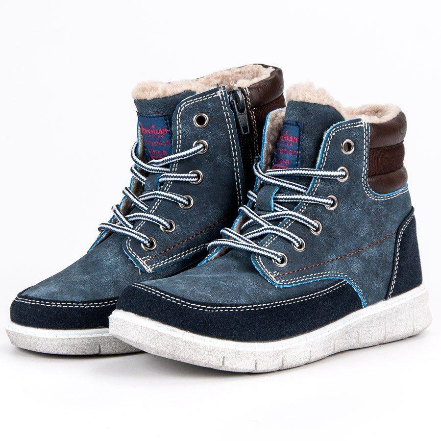 Polbuty I Trzewiki Dzieciece Dla Dzieci Americanclub American Club Niebieskie Mlodziezowe Buty Z Ociepleniem Ame Boots Winter Boot Sorel Winter Boot