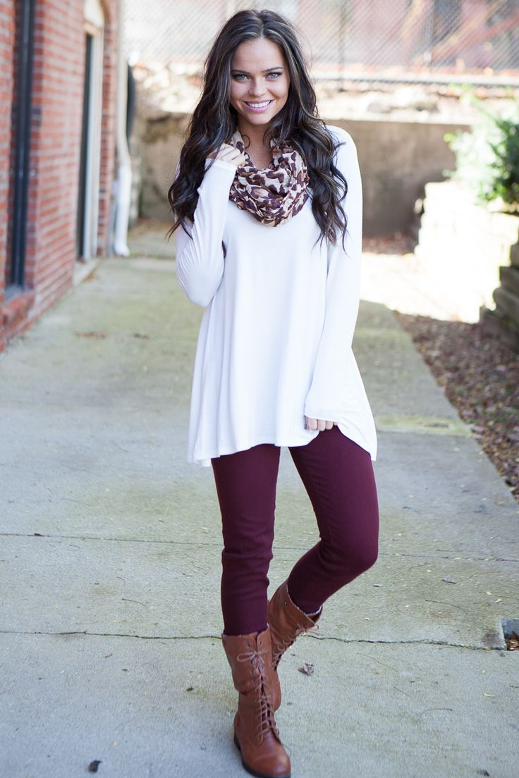 Image result for white top with leggings | Fashion | Pinterest ...