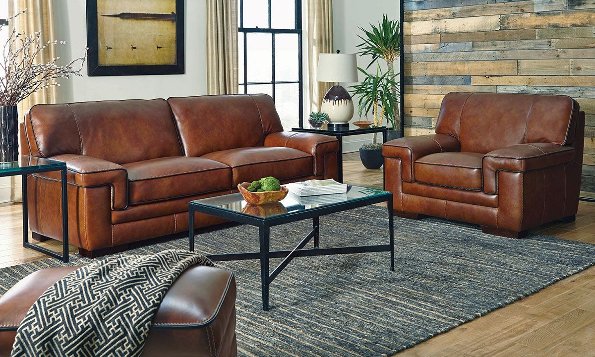 Picture of Chestnut Stampede Leather Sofa | Furniture | Pinterest ...