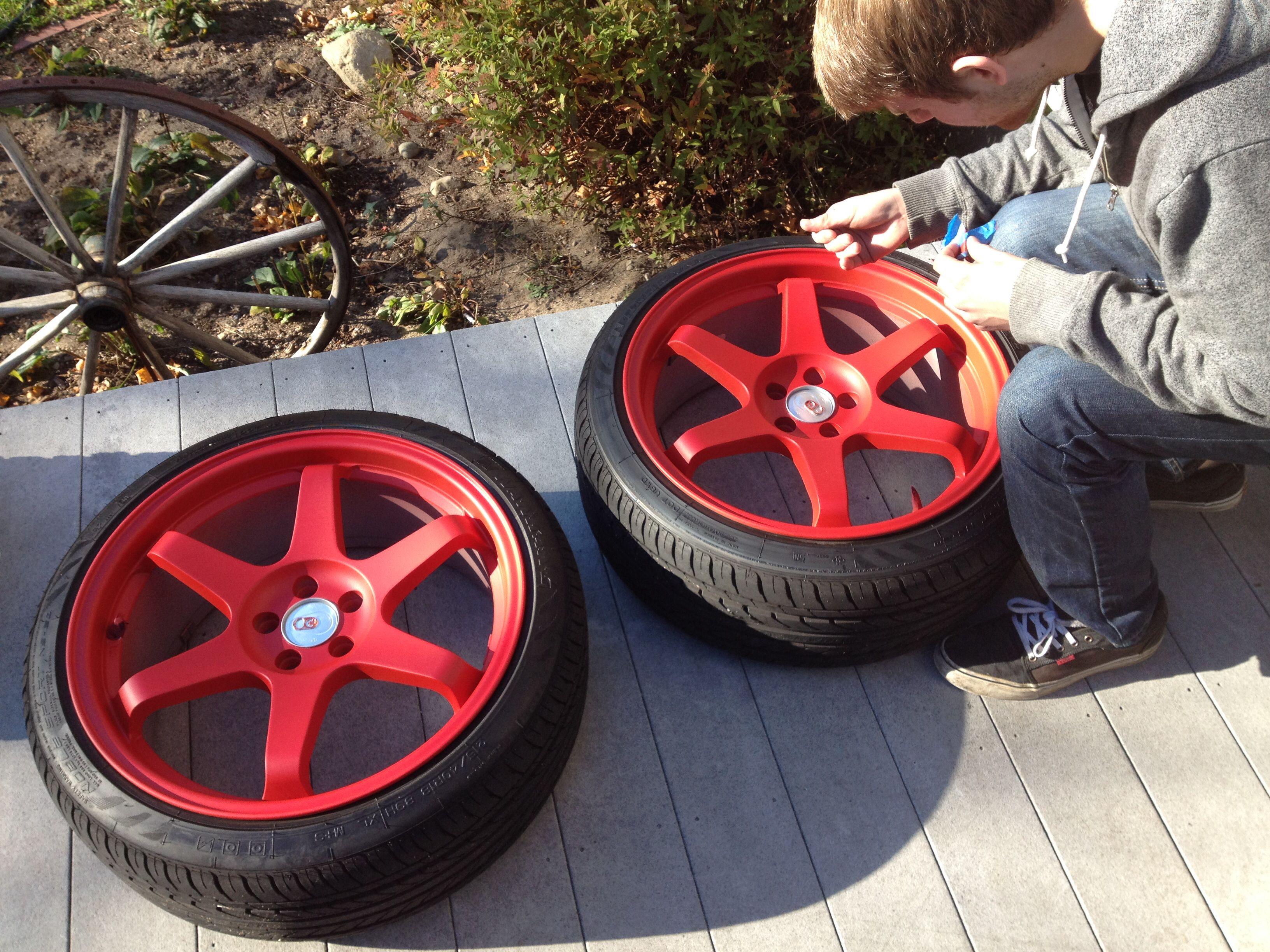 Red plasti dip drying   Cars & bikes   Plasti dip car, Dips