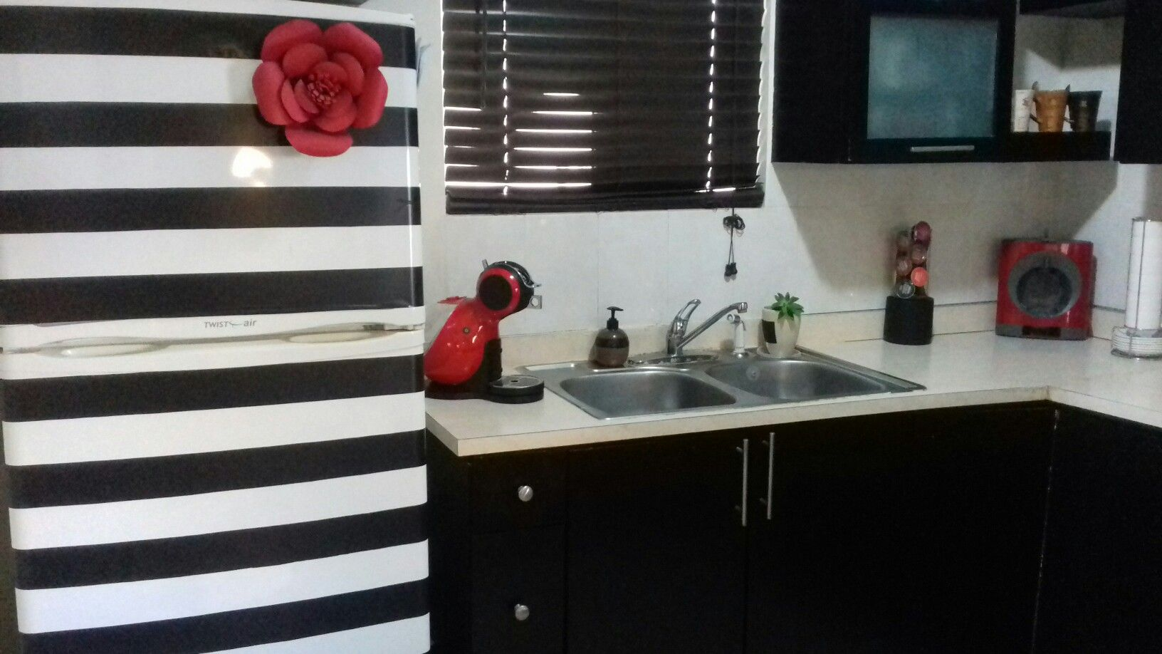 Refrigerador decorado black &white