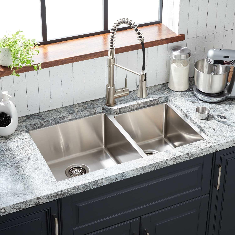 32 Ortega 60 40 Double Bowl Stainless Steel Undermount Kitchen