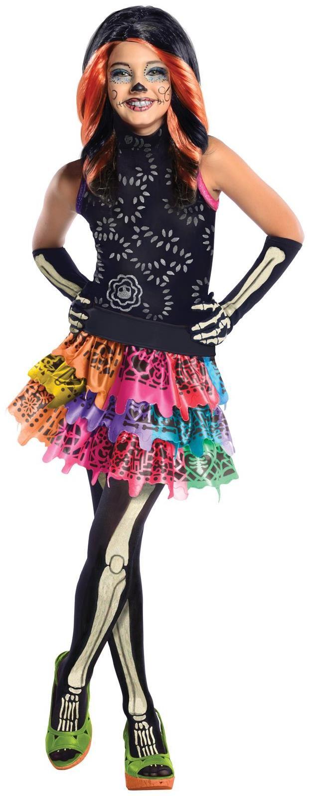 monster high skelita calaveras child costume | monster high costumes