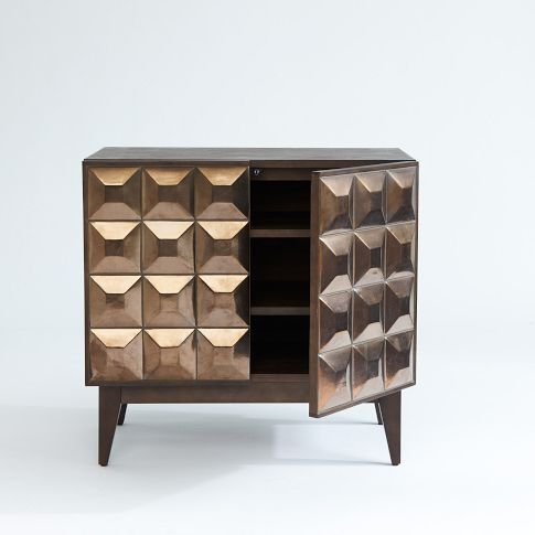 Super Cool Textured Cupboard Fronts. Lubna Chowdhary Dresser   West Elm