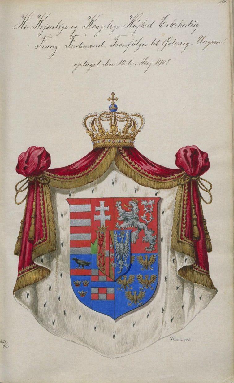 Archduke Frank Ferdinand from the register of the Danish Order of ...