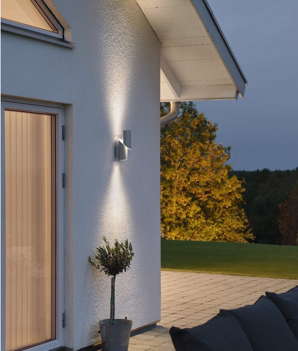 High powered led exterior up down wall light beleuchtung for Fixture exterieur led