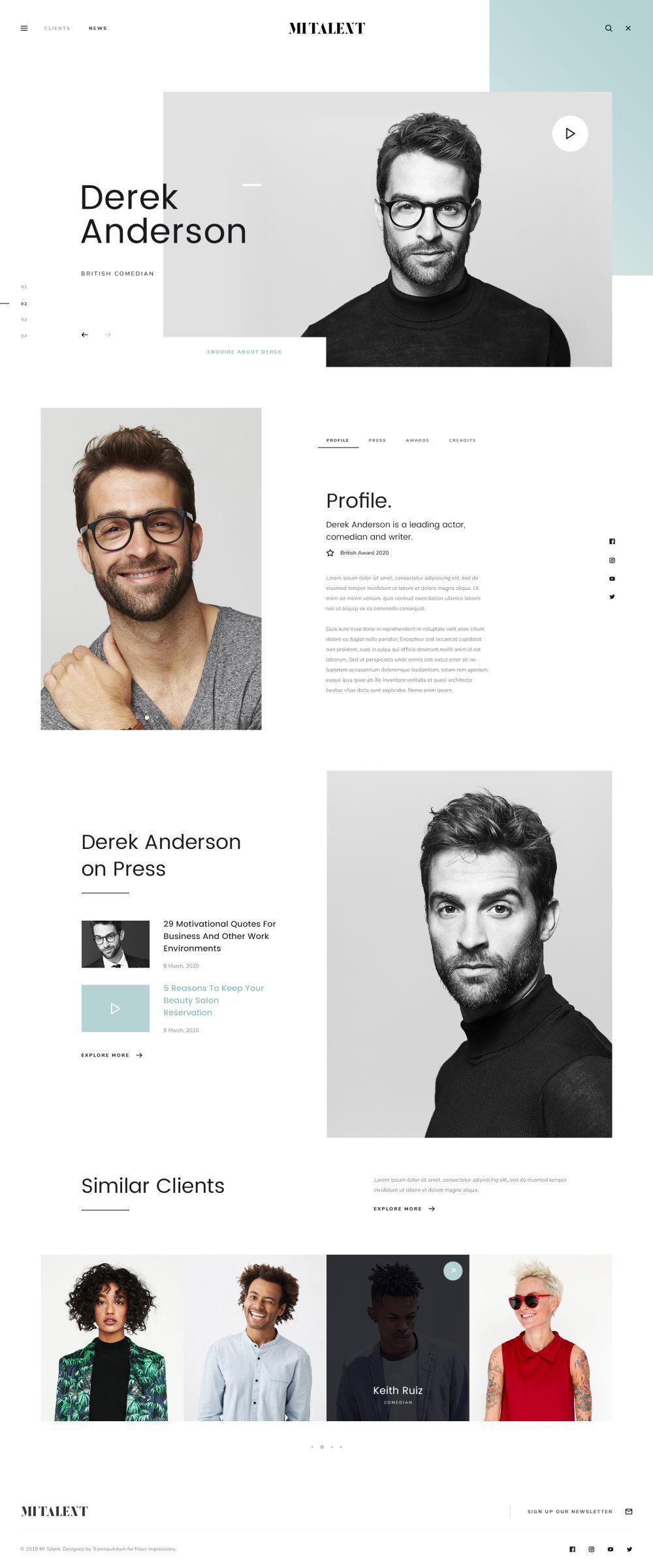 MI Talent - Free Website Template for Agencies | Pinterest ...
