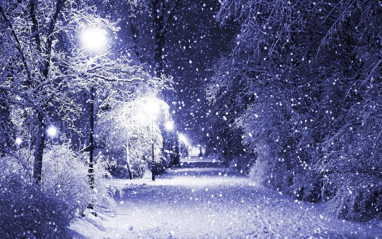 World Most Beautiful Snow Scenes Night Scene Wallpapers