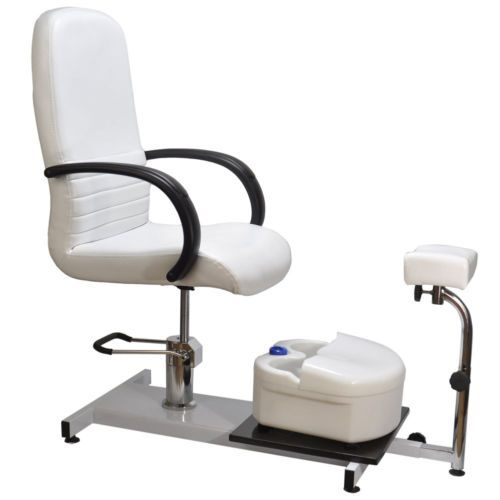 Salon Pedicure Chair Ebay >> Details About White Pedicure Station Hydraulic Chair