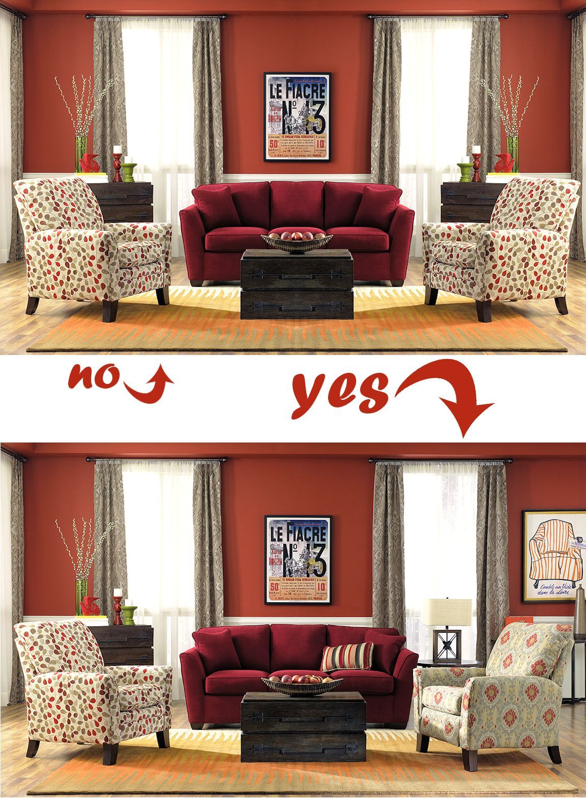 Balancing Act Creating Asymmetry Design Meets Comfort La Z Boy Furniture Galleries Arizona Momcave
