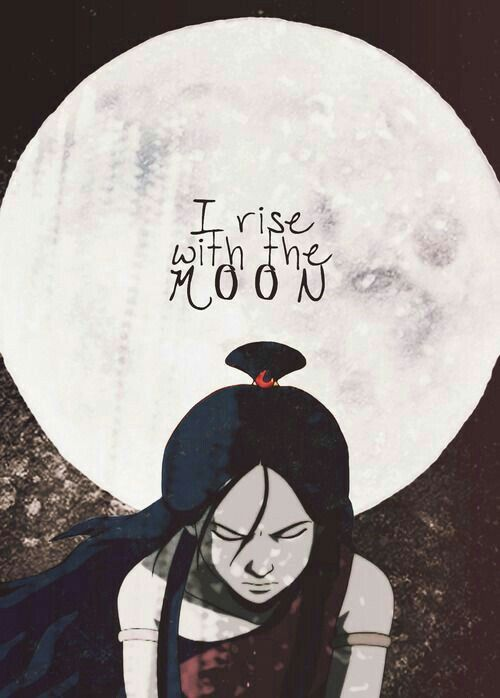 I rise with the moon, text, quote, Katara, moon; Avatar: the Last Airbender