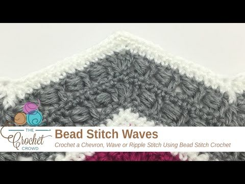 How to Crochet Bead Stitch Wave + Tutorial - The Crochet Crowd