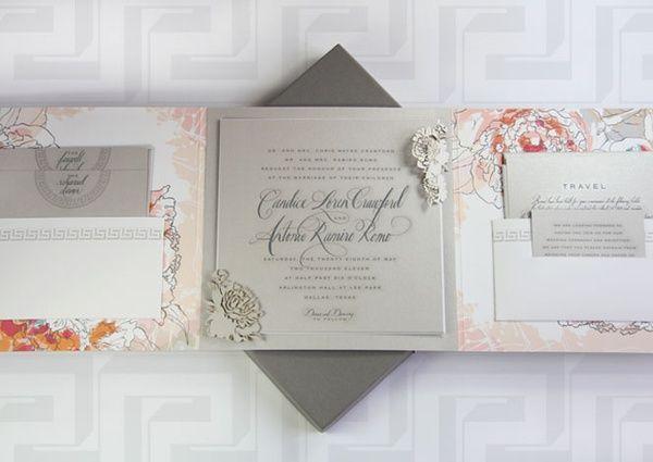 Wedding Invitations Dallas: Candace Crawford And Tony Romo Wedding Invitations Done By