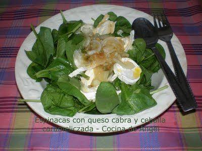 Recetas fáciles para invitar: ensalada con cebolla caramelizada | Cocinar en casa es facilisimo.com