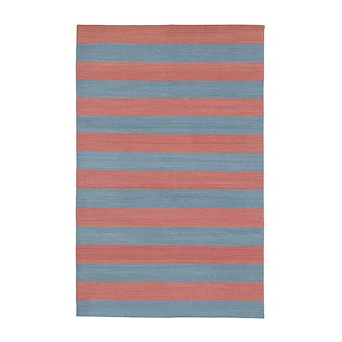 Blue & Red Versa Cotton Carpet | MADELINE WEINRIB