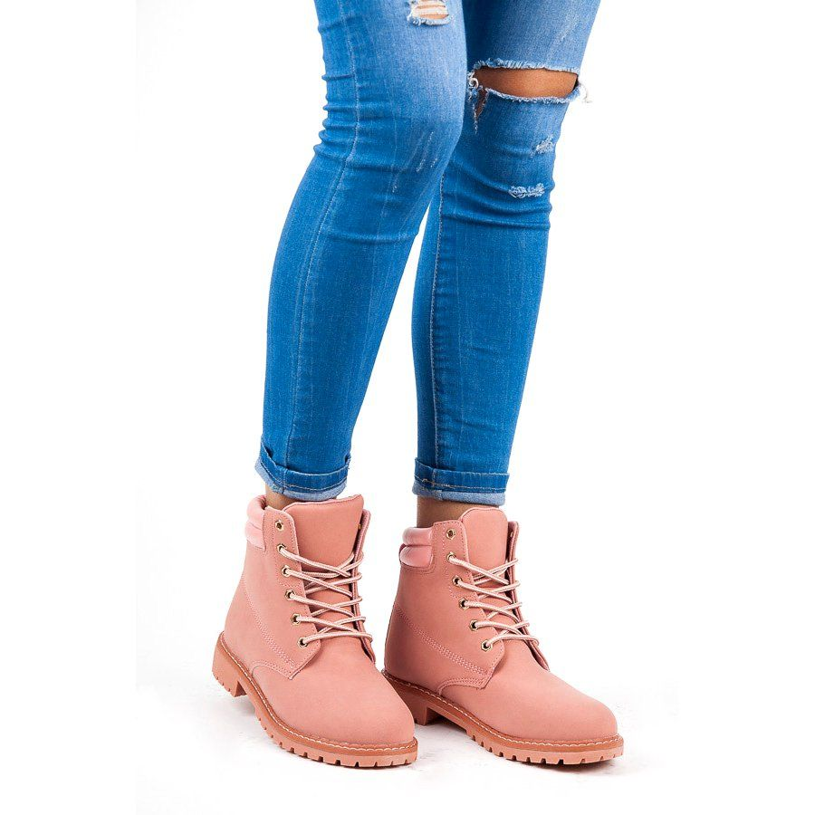 Queentina Rozowe Trapery Boots Timberland Boots Shoes